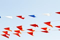 Orange Flags In The Netherlands Stock Photo