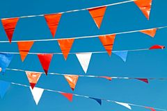 Orange flags in the Netherlands Royalty Free Stock Photo