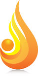 Orange flame. A vector drawing represents orange flame design Stock Image