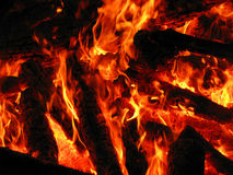 Orange flame Royalty Free Stock Images