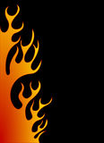 Orange flame background Stock Photo