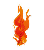 Orange flame icon. Fire concept. Vector graphic. Fire concept represented by orange flame icon. Isolated and flat illustration Royalty Free Stock Photography