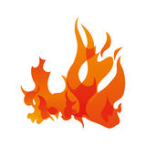 Orange flame icon. Fire concept. Vector graphic. Fire concept represented by orange flame icon. Isolated and flat illustration Royalty Free Stock Photo