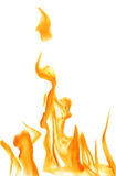 Orange flame on white background illustration Stock Photos