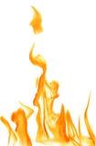 Orange flame on white background illustration. Illustration with bright flame on white background Stock Photos