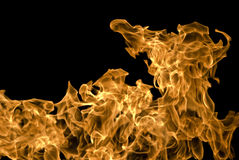 Orange flames Royalty Free Stock Photos