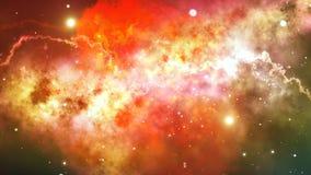 Orange Flammen-Stern-Bedeckungs-Illustration Stockfoto