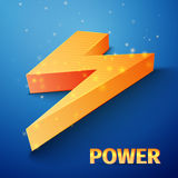 Orange flash symbol Stock Photo