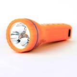 Orange flashlight isolated on white background Royalty Free Stock Photos