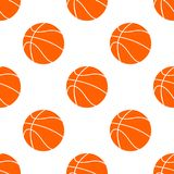 Orange flat basketball ball, vector illustration isolated on white background. Seamless pattern. Orange flat basketball ball, vector illustration isolated on royalty free illustration