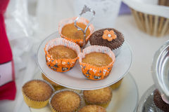Orange flavored cupcake Stock Images