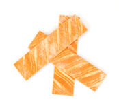 Orange flavored gum Stock Photography