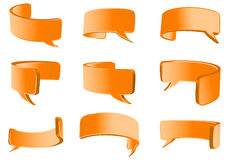 Orange flexible talk bubble Royalty Free Stock Image