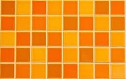 Orange Fliesebeschaffenheit Lizenzfreie Stockbilder