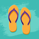 Orange flip flops Royalty Free Stock Photo