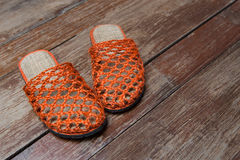 Orange Flipflops Lizenzfreie Stockfotografie