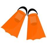 Orange flippers stock illustration