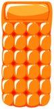 Orange floating mat on white background Stock Photos