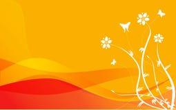 Orange Floral. Orange background with floral design vector illustration