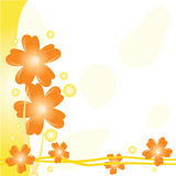 Orange floral background Stock Photos