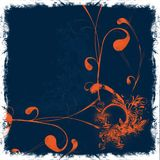 Orange floral background Stock Images