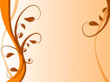 Orange Floral Background stock illustration