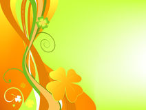 Orange floral background vector illustration