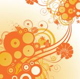 Orange floral background Royalty Free Stock Photography