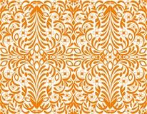 Orange floral background, seamless wallpaper royalty free illustration