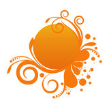Orange floral banner Royalty Free Stock Photos