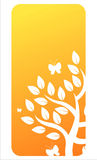Orange floral banner Stock Image