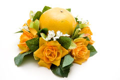 Orange in the floral decoration Stock Image