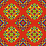 Orange Floral festive vector pattern Royalty Free Stock Photography