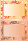 Orange floral frame Stock Photos
