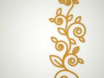 Orange floral motive. Concept rendered royalty free illustration