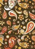 Orange Floral Pattern Royalty Free Stock Image