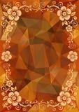 Orange floral pattern Stock Photos