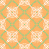 Orange floral pattern with renaissance motifs Stock Images