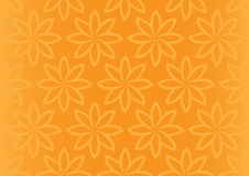Orange Floral Repeat Pattern Seamless Vector Background Design Stock Images