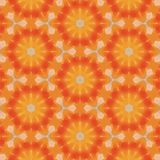 Orange floral repeating pattern in a bright sunny background stock illustration