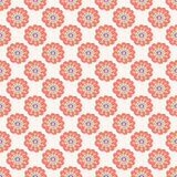 Orange floral seamless pattern. Doodle simple kids background. Hand drawn wallpaper. Stock Photo