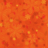 Orange floral seamless pattern Royalty Free Stock Images
