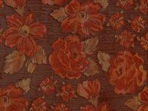 Orange floral tapestry. Stock Image