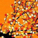 Orange floral tree print Stock Image