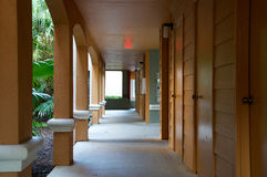 Orange florida outside corridor Stock Photos