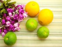 Orange & flower background with green stripes Background. Beautiful  Orange & flower background with green stripes Background Stock Photo