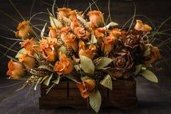 Orange Flower Bouquet Stock Images