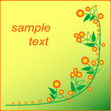 Orange flower flyer Royalty Free Stock Photography