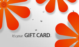 Orange Flower Giftcard Royalty Free Stock Photography