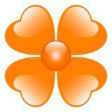 Orange flower illustration. Isolated over white Stock Photo